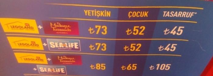 Legoland istanbul giris ucreti