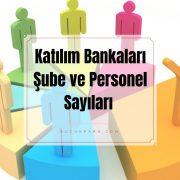 Katılım bankasi şubeleri ve personel sayilari