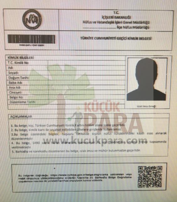 gecici kimlik belgesi,yeni kimlik karti