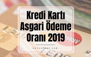 kredi karti asgari odeme orani 2019